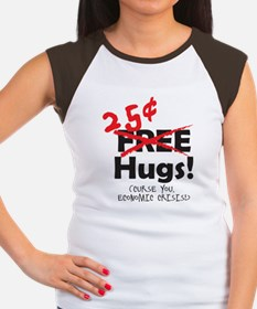 25Cent_Hugs_Economy_sma Women's Cap Sleeve T-Shirt