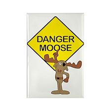 Danger Moose Rectangle Magnet