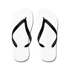 White Helvetica Cowboy Flip Flops