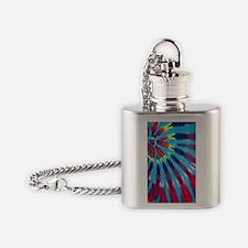 443 Blue Funk Flask Necklace