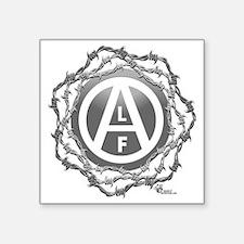 """alf-black-02 Square Sticker 3"""" x 3"""""""