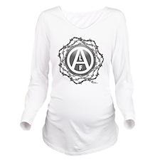 alf-black-02 Long Sleeve Maternity T-Shirt