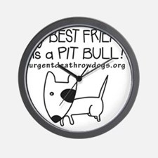 PitBullFriend_ORG Wall Clock