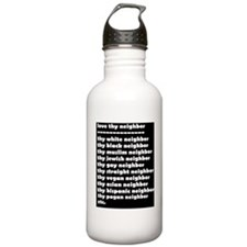 thypaganneighborwhiteo Water Bottle