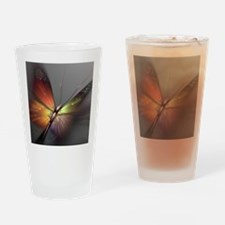 Multicolored Butterfly Drinking Glass
