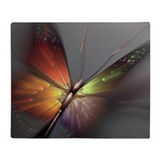 Multicolored Butterfly Throw Blanket