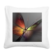 Multicolored Butterfly Square Canvas Pillow