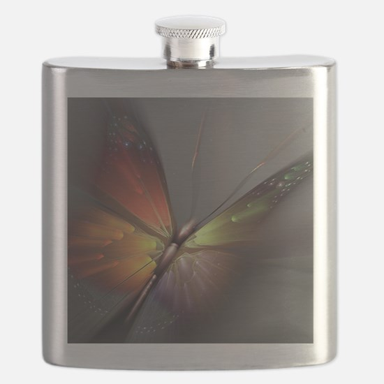 Multicolored Butterfly Flask