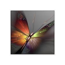 "Multicolored Butterfly Square Sticker 3"" x 3"""
