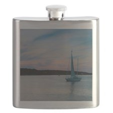 Boat at Marthas Vineyard Flask