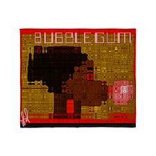 bubblegumCALENDAR Throw Blanket
