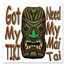 "Mai-Tai copy Square Car Magnet 3"" x 3"""