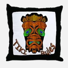 TikiRules Throw Pillow