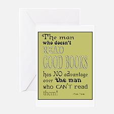 Good Books Twain border Greeting Card