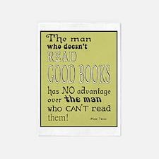 Good Books Twain border 5'x7'Area Rug