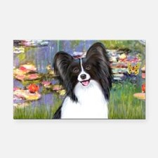 LIC-Lilies2 - Papillon 1 Rectangle Car Magnet