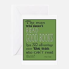Good Books green border Greeting Card