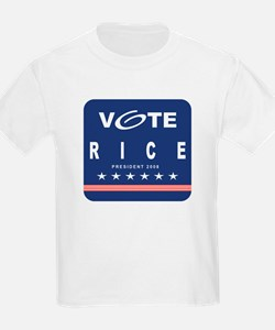 Vote Rice Kids T-Shirt