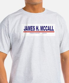 James H Mccall (simple) Ash Grey T-Shirt