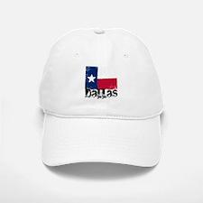 Dallas Grunge Flag Baseball Baseball Cap