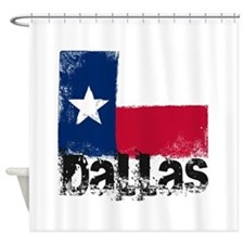 Dallas Grunge Flag Shower Curtain