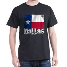 Dallas Grunge Flag T-Shirt