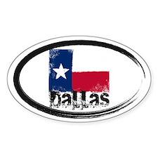 Dallas Grunge Flag Decal