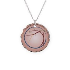 DAS Brown Deg SQUARE wo web Necklace Circle Charm