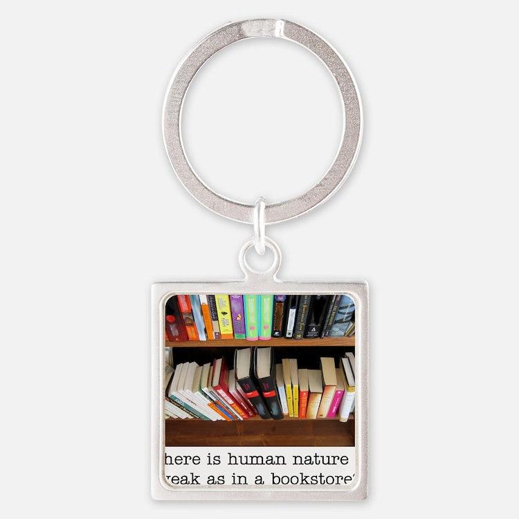 bookstore Square Keychain