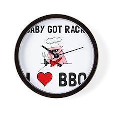 BBQ Baby Got Rack Wall Clock