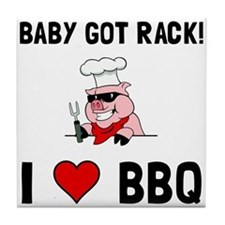 BBQ Baby Got Rack Tile Coaster