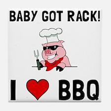 BBQ Baby Got Rack Tile Coaster