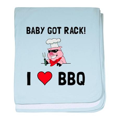 BBQ Baby Got Rack baby blanket