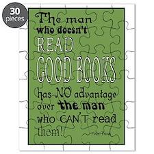 twain green 10x14 Puzzle