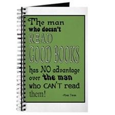 twain green 10x14 Journal