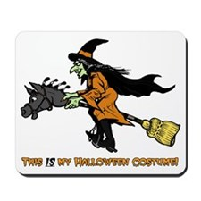 Halloween Witch Costume Mousepad