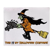 Halloween Witch Costume Throw Blanket