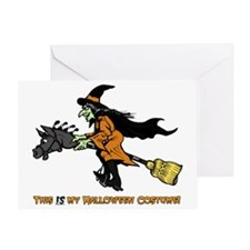 Halloween Witch Costume Greeting Card