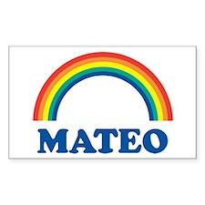 MATEO (rainbow) Rectangle Decal