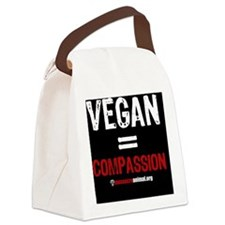 compassion-vegan-pins-01 Canvas Lunch Bag