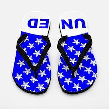 bubble_flag_just_stars_blue_united_02 Flip Flops