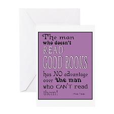 Good Books purple border Greeting Card