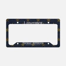 Big Government Quote License Plate Holder