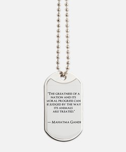 Gandhi Quote Dog Tags