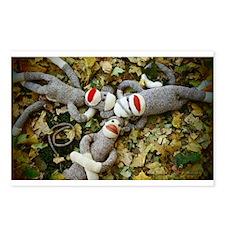 Autumn Frolic - Sock Monkey Postcards (Package of
