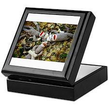 Autumn Frolic - Sock Monkey Keepsake Box