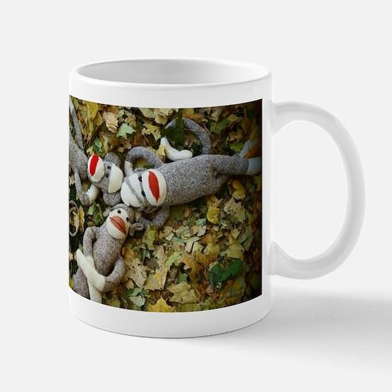 Autumn Frolic - Sock Monkey Mugs