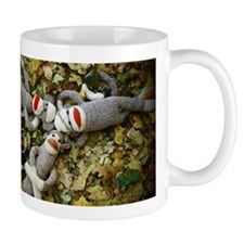 Autumn Frolic - Sock Monkey Mugs