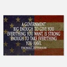 Big Government Quote Postcards (Package of 8)