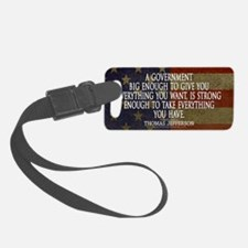 Big Government Quote Luggage Tag